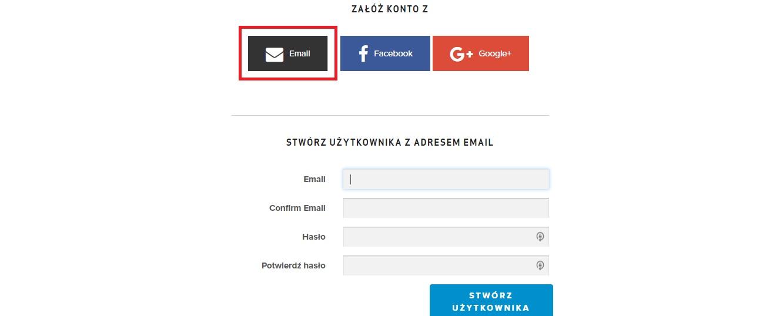 załóż konto email